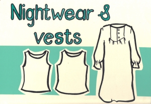 Nightwear and vests sign